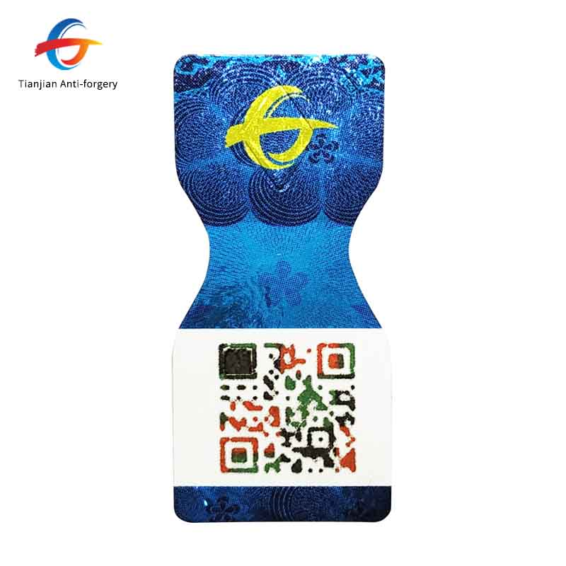 factory direct sale patent 3D QR code sticker with custom logo and characters